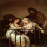 Francisco de Goya (1746-1828)  Majas on a Balcony  Oil on canvas  Metropolitan Museum of Art, Manhattan, New York, USA
